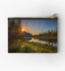 Bow River Setting Sun Zipper Pouch