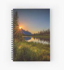 Bow River Setting Sun Spiral Notebook
