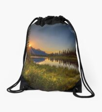 Bow River Setting Sun Drawstring Bag
