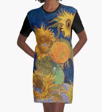 Vestido camiseta HD Sunflowers (segunda versión número II de su serie de girasoles), de Vincent van Gogh ALTA DEFINICIÓN