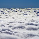 Sea of Clouds with tip of Mountain by PeteOfTas