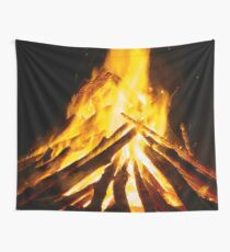 On Fire! Burn Baby, Burn Wall Tapestry