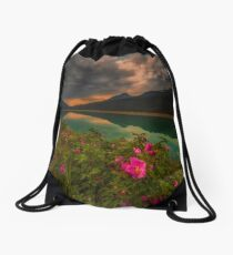 Medicine Lake - Canada Drawstring Bag