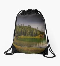 Maligne Lake - Canada Drawstring Bag