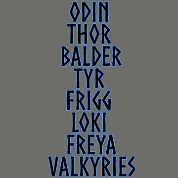 Norse Gods by Sacredrite