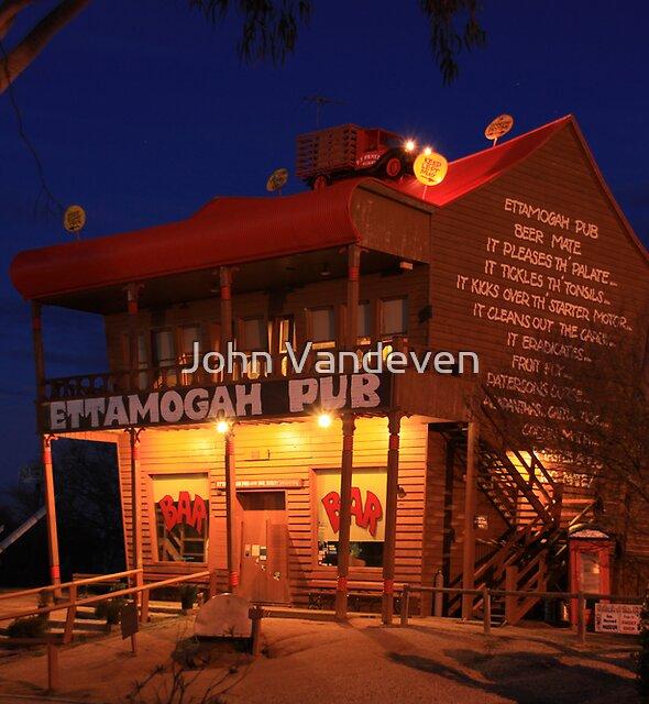 Ettamogah Pub at night. by John Vandeven