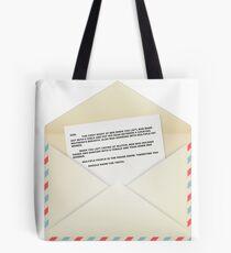 Sam's Letter  Tote Bag
