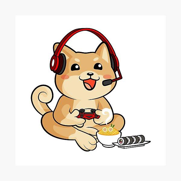 Gaming Shiba Inu Photographic Print