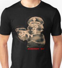 monkey with a gun - black t T-Shirt