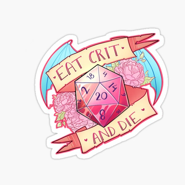 Eat Crit - D&D Pegatina