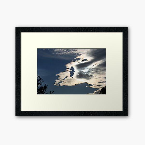 Iridescent clouds  Framed Art Print