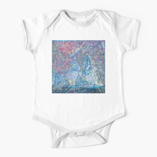 Hyperborean Landscape 8 Short Sleeve Baby One-Piece