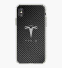 Tesla Kohlefaser iPhone-Hülle & Cover