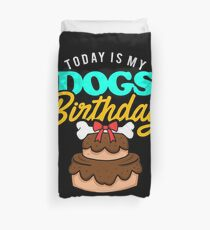 Dog Birthday Party Apparel Duvet Cover