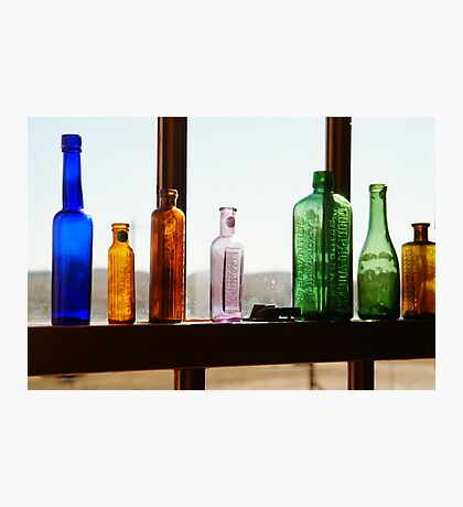 Bottles, Silverton Cafe, Outback Australia Photographic Print