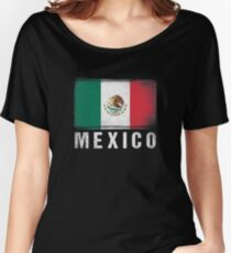Distressed Mexico Flag Women's Relaxed Fit T-Shirt