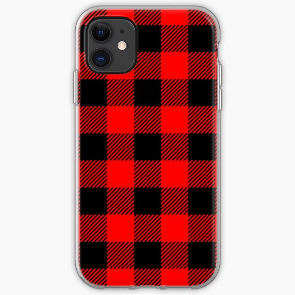 Buffalo Check Red and Black Plaid Lumberjack Canadiana Style iPhone Soft Case