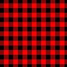 Buffalo Check Red and Black Plaid Lumberjack Canadiana Style by Garaga