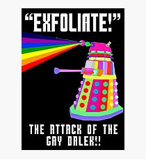 Gay Dalek Photographic Print
