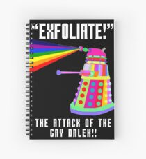 Gay Dalek Spiral Notebook