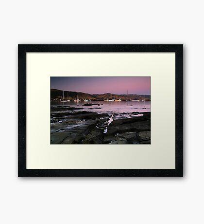 Dusk Apollo Bay Harbour Framed Print