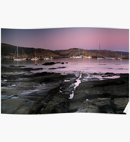 Dusk Apollo Bay Harbour Poster