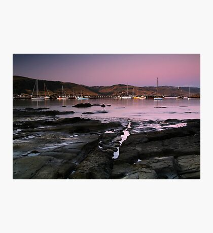 Dusk Apollo Bay Harbour Photographic Print