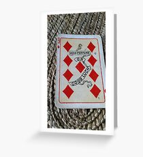 The Playing Cards - Nine of Diamonds - Good Luck Greeting Card