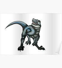 velociraptor Blue Poster