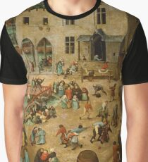 Children's Games - Pieter Bruegel the Elder Graphic T-Shirt