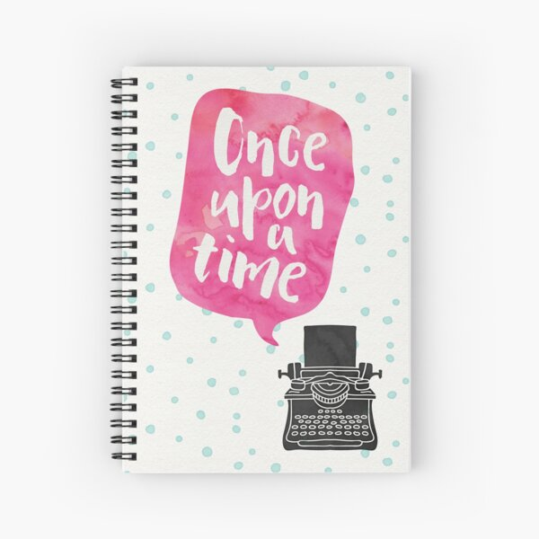 Once Upon A Typewriter (Pink) Spiral Notebook
