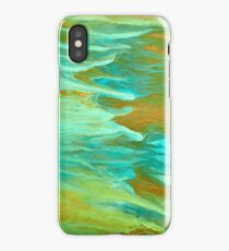 abstract oil seascape iPhone Case