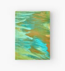 abstract oil seascape Hardcover Journal
