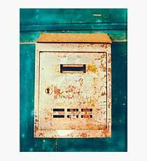 Rusty mailbox Photographic Print