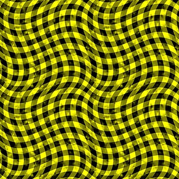 Wiggly Yellow and Black Speckle Check Pattern by MarkUK97
