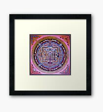 Kalachakra Sera - Mandala Framed Print