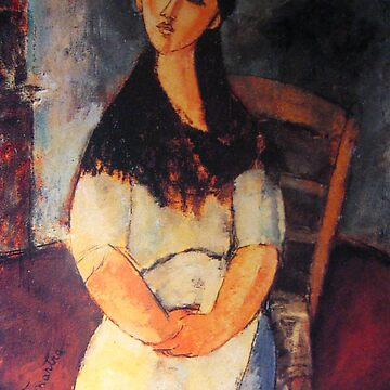Vintage Amedeo Modigliani Girl on Chair c1920 by AllVintageArt