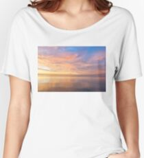 Good for the Soul - Mesmerising Sunrise Clouds Over Lustrous Waters Women's Relaxed Fit T-Shirt