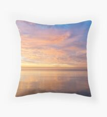 Good for the Soul - Mesmerising Sunrise Clouds Over Lustrous Waters Throw Pillow