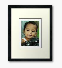 Boy's toys Framed Print
