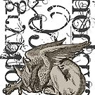 Alice In Wonderland Gryphon Grunge by Incognita Enterprises