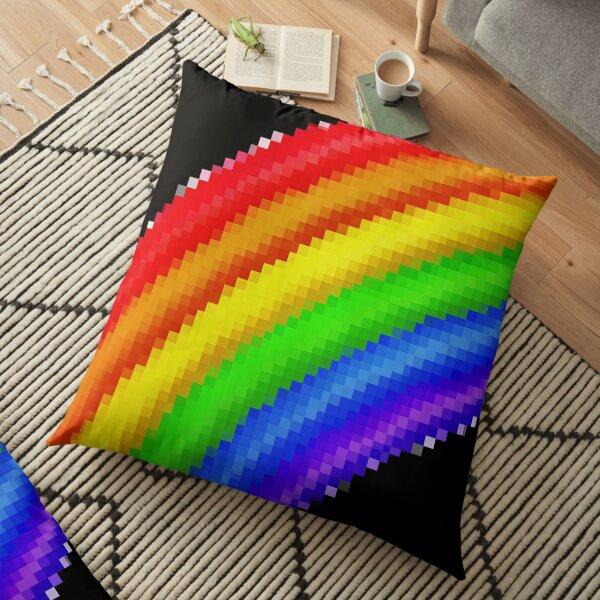 Pixiilated Pride by RootCat Floor Pillow