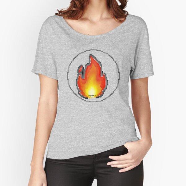 Pixiilated Flame III by RootCat Relaxed Fit T-Shirt