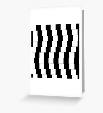 Op Art 002 - Illusion Greeting Card