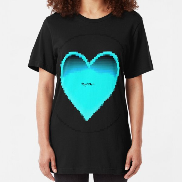 Pixiilated Heart 2 by RootCat Slim Fit T-Shirt