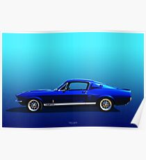 GT 350 Side View Poster