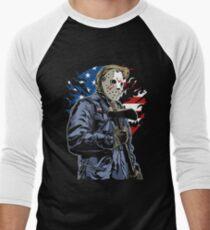 American Flag Axe Murderer  Men's Baseball ¾ T-Shirt