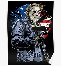 American Flag Axe Murderer  Poster