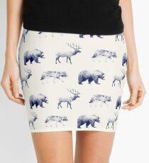 Wild Pattern // Blue Mini Skirt