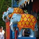 Colors of Amusement--Elephants by sadeyedartist